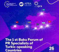 """IPRA-dan """"Türkdilli Dövlətlərin PR Mütəxəssislərinin Birinci Bakı Forumu""""na dəstək"""